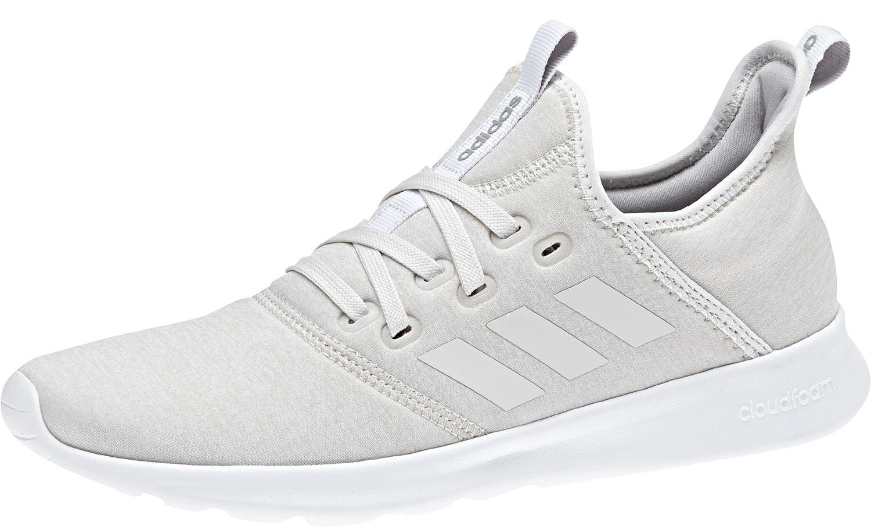 ADIDAS cloudfoam Donna Sneakers Scarpe da ginnastica Scarpe da corsa db0705 Bianco Grigio Nuovo