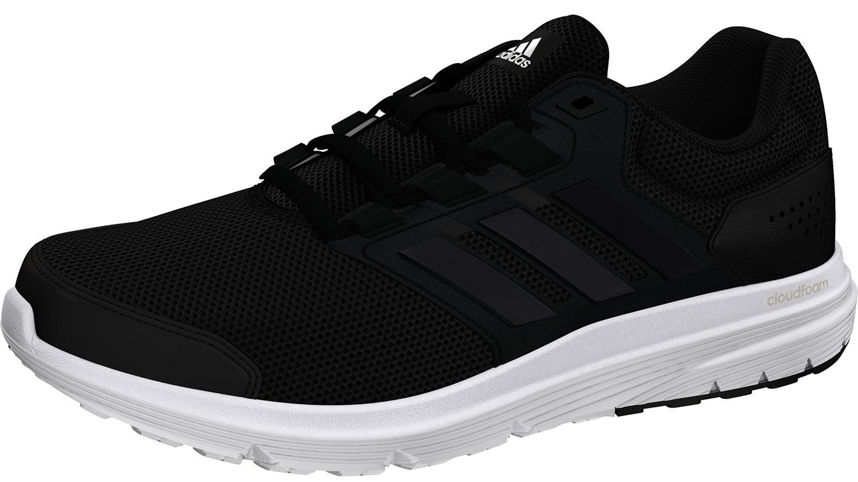 adidas Galaxy Herren Sneakers Low Turnschuhe Sportschuhe Bb3563 Schwarz Neu