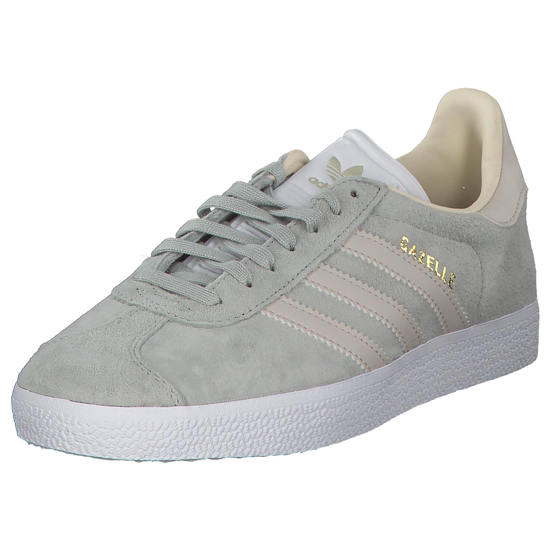 Details zu adidas Gazelle Damen Sneakers Turnschuhe Laufschuhe Cg6065 Grau  Silber Neu