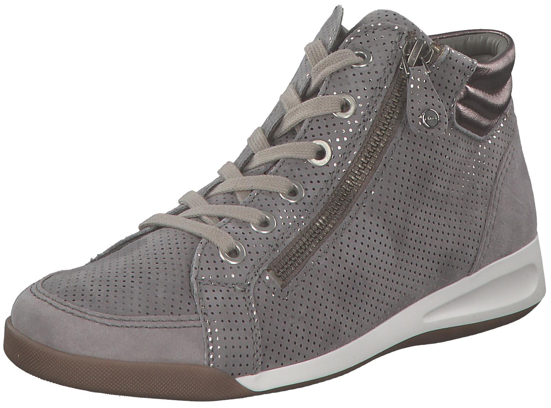 Ara Rom Damen Sneakers Hoch High-top Boots 12-44410-44 Grau Silber ... 07a60a47a9