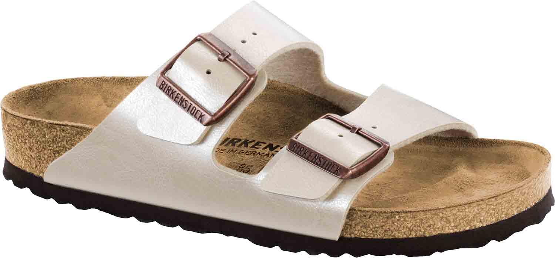 half off 4272e c221f Details zu Birkenstock Arizona Damen Sandalen Pantoletten 1009921 Schmal  Weiß Pearl Neu