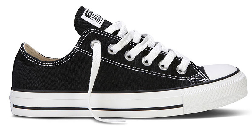 Details zu Converse Chucks Low Ox Schwarz M9166 Black All Star