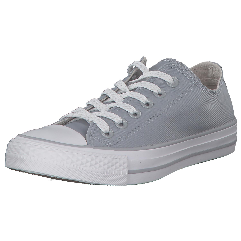 Zapatos promocionales para hombres y mujeres Converse Chuck Taylor All Star Classic Low Chucks Niedrig Stoffschuhe Grau Neu