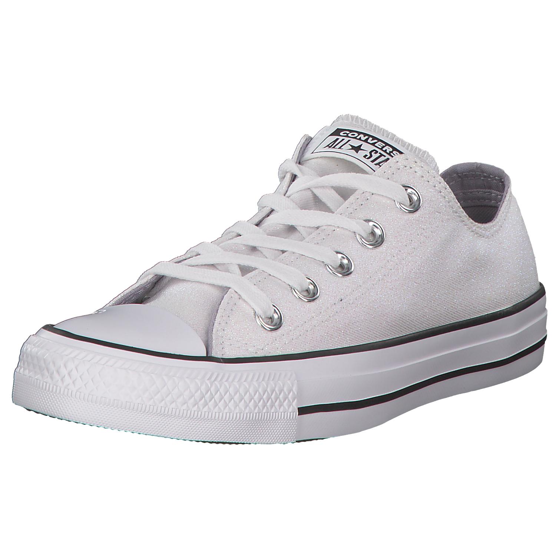 Details zu Converse All Star Damen Sneaker Sneaker Low Turnschuhe 561712c Weißglitzer Neu