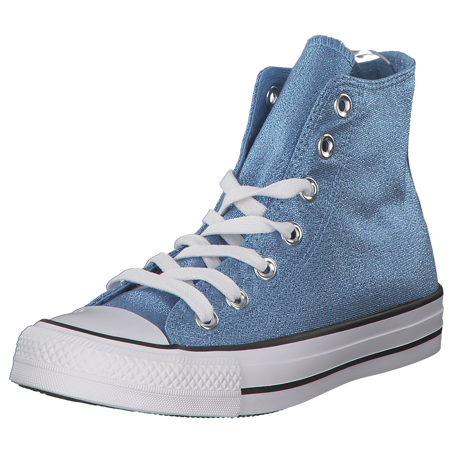 huge selection of 4b21e 69c91 Details zu Converse All Star Damen Sneaker Sneaker High Turnschuhe 561707c  Blau/glitzer Neu
