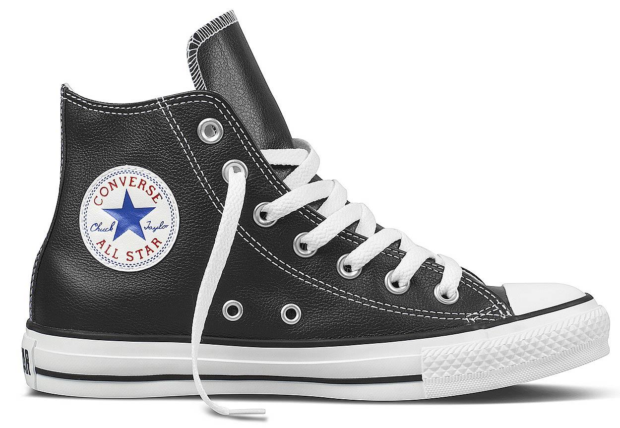 Details zu Converse Sneaker Leder Chucks Ct Hi 132170c Schwarz Weiß