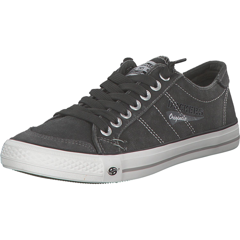 Schnürer Niedrig Sneakers Stoffschuhe Low Herren Top Halbschuhe Zu Grau Details Neu Dockers USzMVp