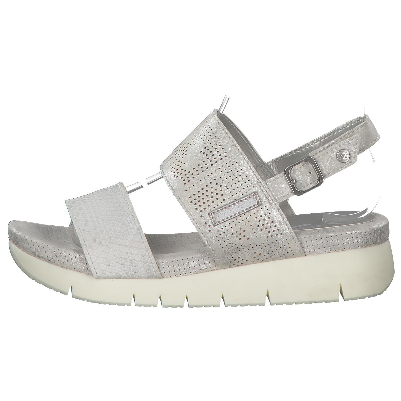 DOCKERS-Sandalias-Mujer-De-Plataforma-Zapatos-verano-blanco-plata-NUEVO