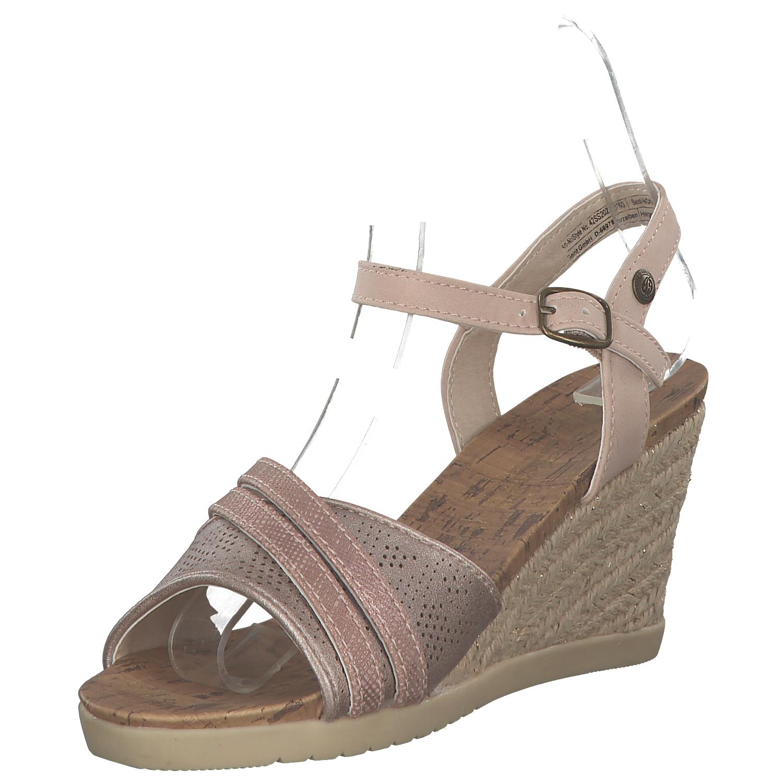 Dockers Donna SANDALETTI SANDALI ZEPPA TACCHI scarpe estive APRIRE Rosa NUOVO