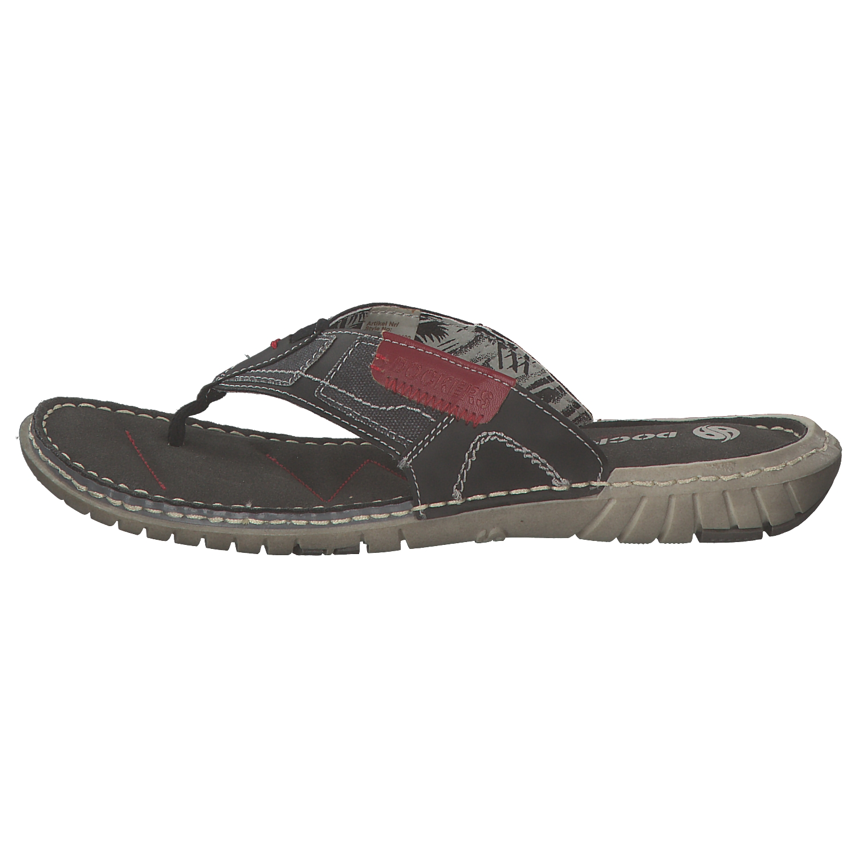 DOCKERS-Hombres-Zapatos-de-verano-sandalias-ABRIR-38sd006-600-Negras-Nueva