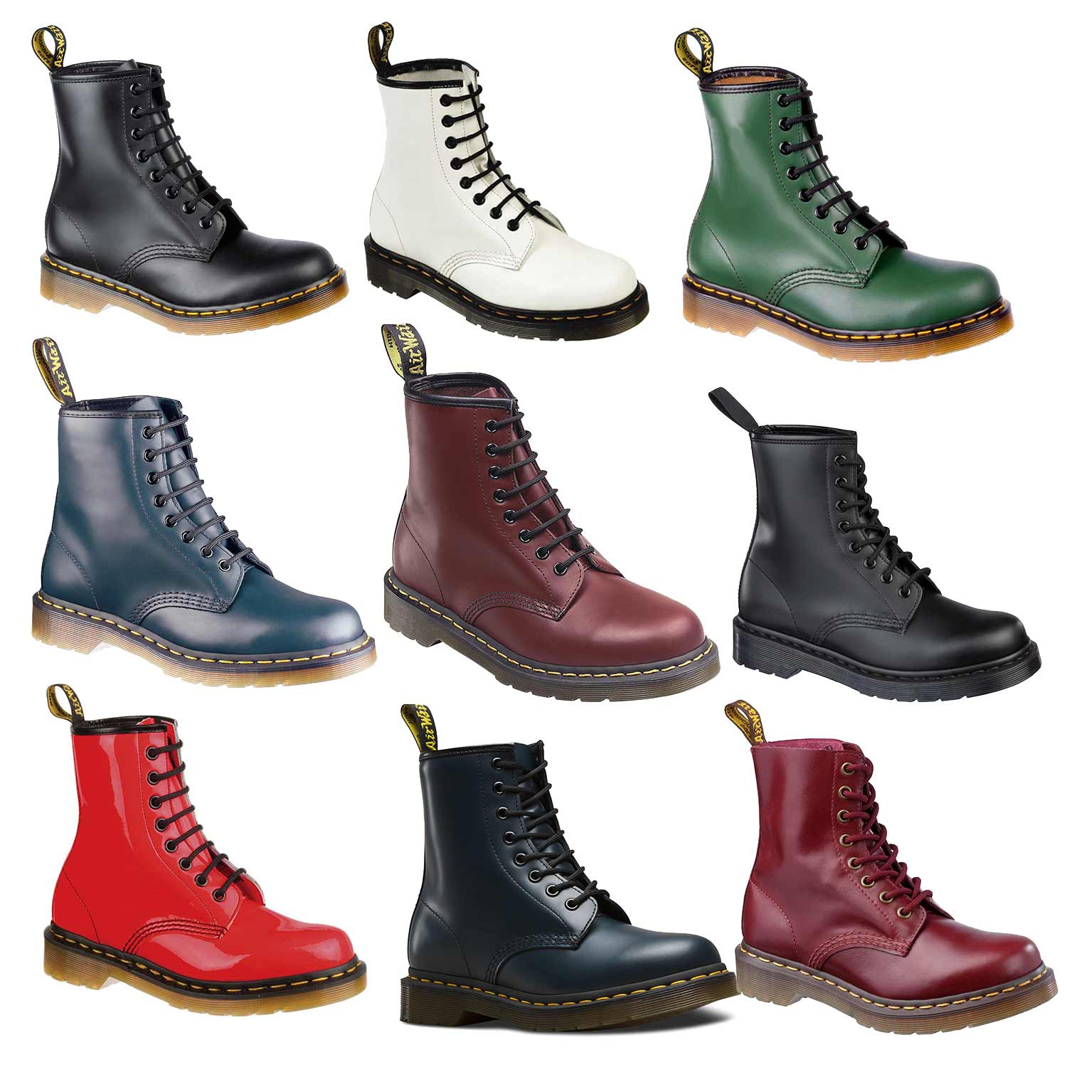 dr martens doc bottes lisse 8 il trou 1460z bottes en. Black Bedroom Furniture Sets. Home Design Ideas