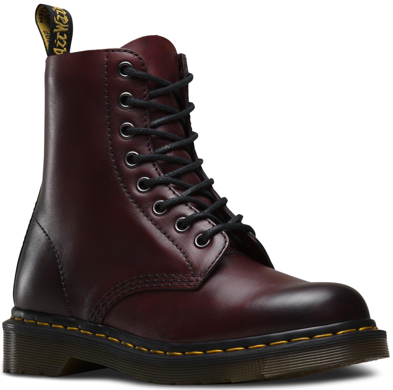 gehobene Qualität Online kaufen Gutscheincodes Details zu Dr. Martens Pascal Herren Damen Uni Boots Stiefel  Springerstiefel 21154600 Rot