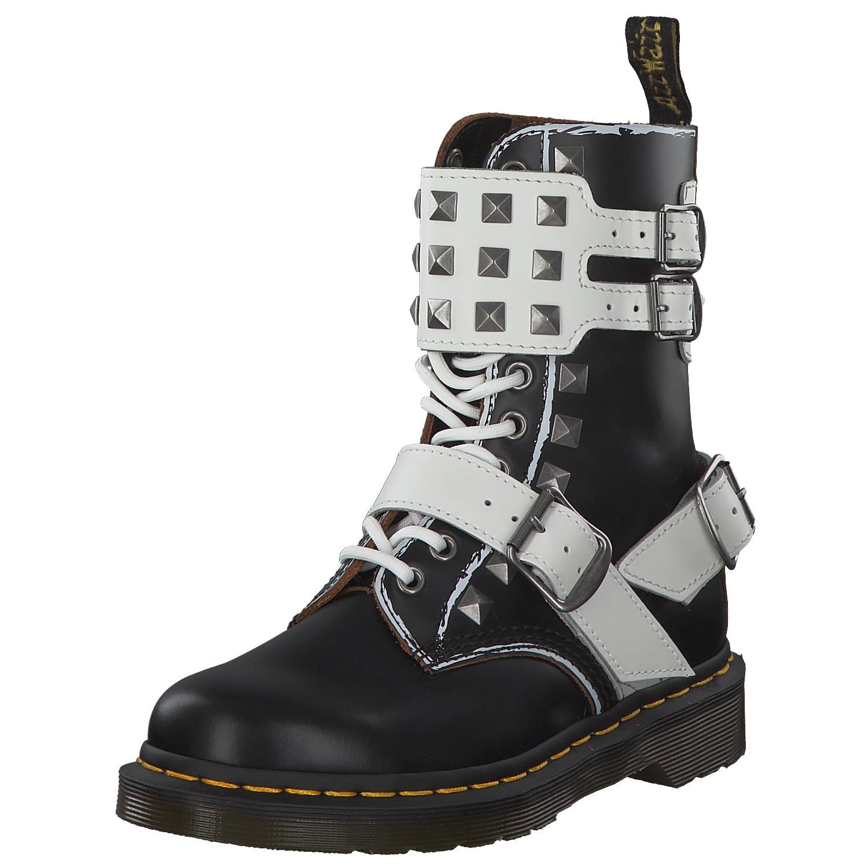 Details zu Dr. Martens 1490 Damen Stiefel Boots Stiefelette 25171009 Schwarz Black Weiß Neu