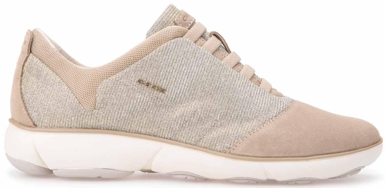 Scarpe Geox NEBULA Donna Sneakers Scarpe da ginnastica Scarpe da corsa d641eg 0ew22 c9hh6 Beige Nuovo