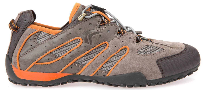 Geox Snake Sneakers Uomo Scarpe casual u4207j 02214/cq67r Beige Arancione NUOVO