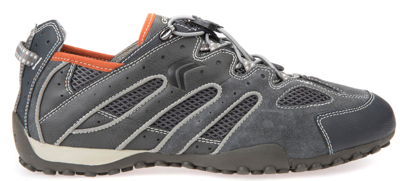Geox Snake Sneakers Uomo Scarpe casual u4207j 02214/C0358 grigio arancione NUOVO