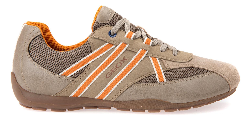Geox ravex Sneakers Uomo Scarpe casual u743fb 0au14/c5124 MARRONE SABBIA NUOVO