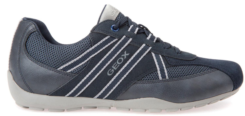 Geox Ravex Herren Sneakers Freizeitschuhe U743fb 0au14/c4002 Blau Navy Neu
