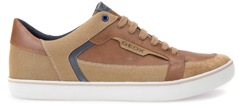 Geox HALVER Sneakers Uomo Scarpe casual u743ac 054au/C6607 Marrone cognac NUOVO