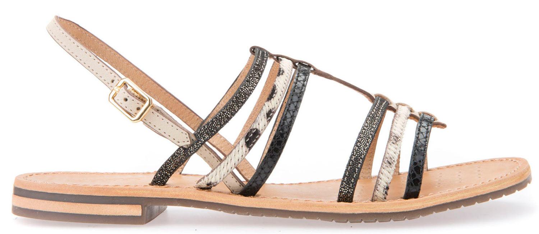 GEOX Sozy Sandali donna sandali d822ch 032ga/C0538 NERO Cream NUOVO