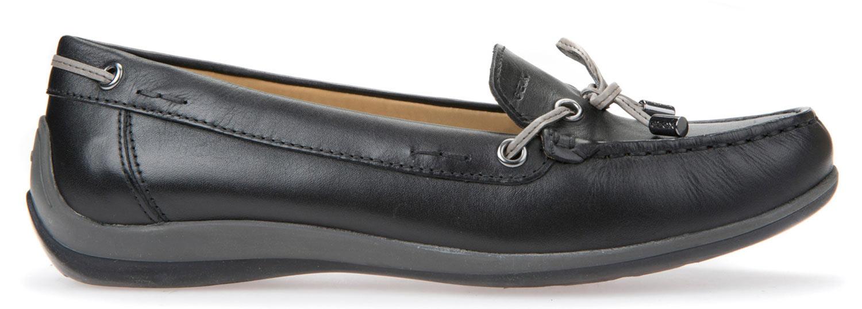 GEOX YUKI Ballerine da donna casual scarpe estive d6455a 00043/C9999 Nero NUOVO