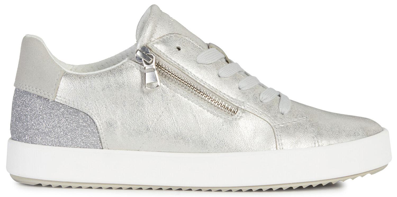 Details zu Geox Blomiee Damen Sneakers Turnschuhe Freizeit D026ha 0pvewc1007 Silber Neu 0WRwD