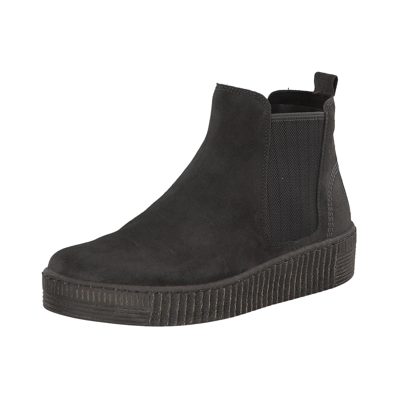 Grandes zapatos con descuento Gabor Damen Chelsea Boots Stiefel Stiefeletten Schlupfschuhe 73.731.19 Grau Neu