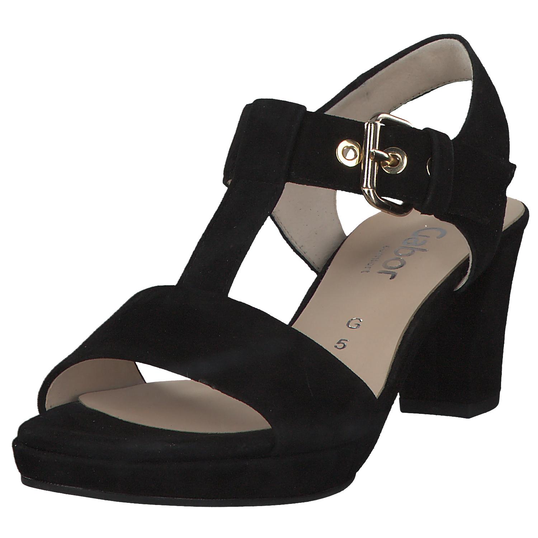 Détails sur Gabor St.Tropez Sandales pour Femmes Mules Chaussures D'Été 22.394.47 Noir Neuf