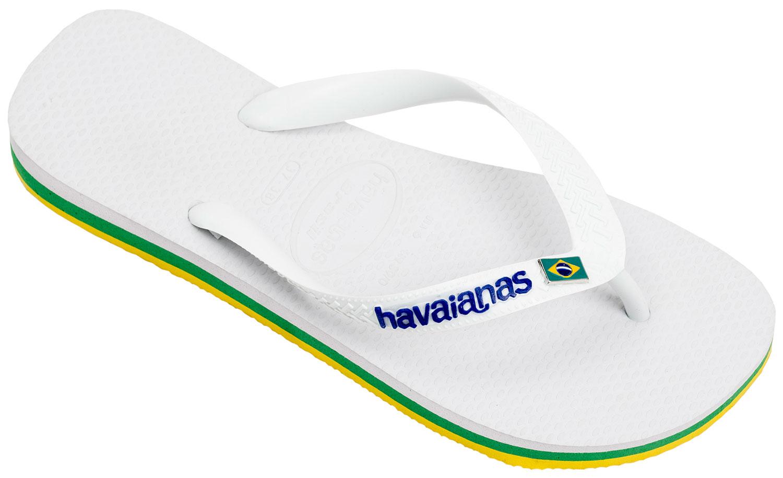 Details zu Havaianas Brasil Layers Herren Damen Flipflops Zehentrenner 4140715 Weiß Neu