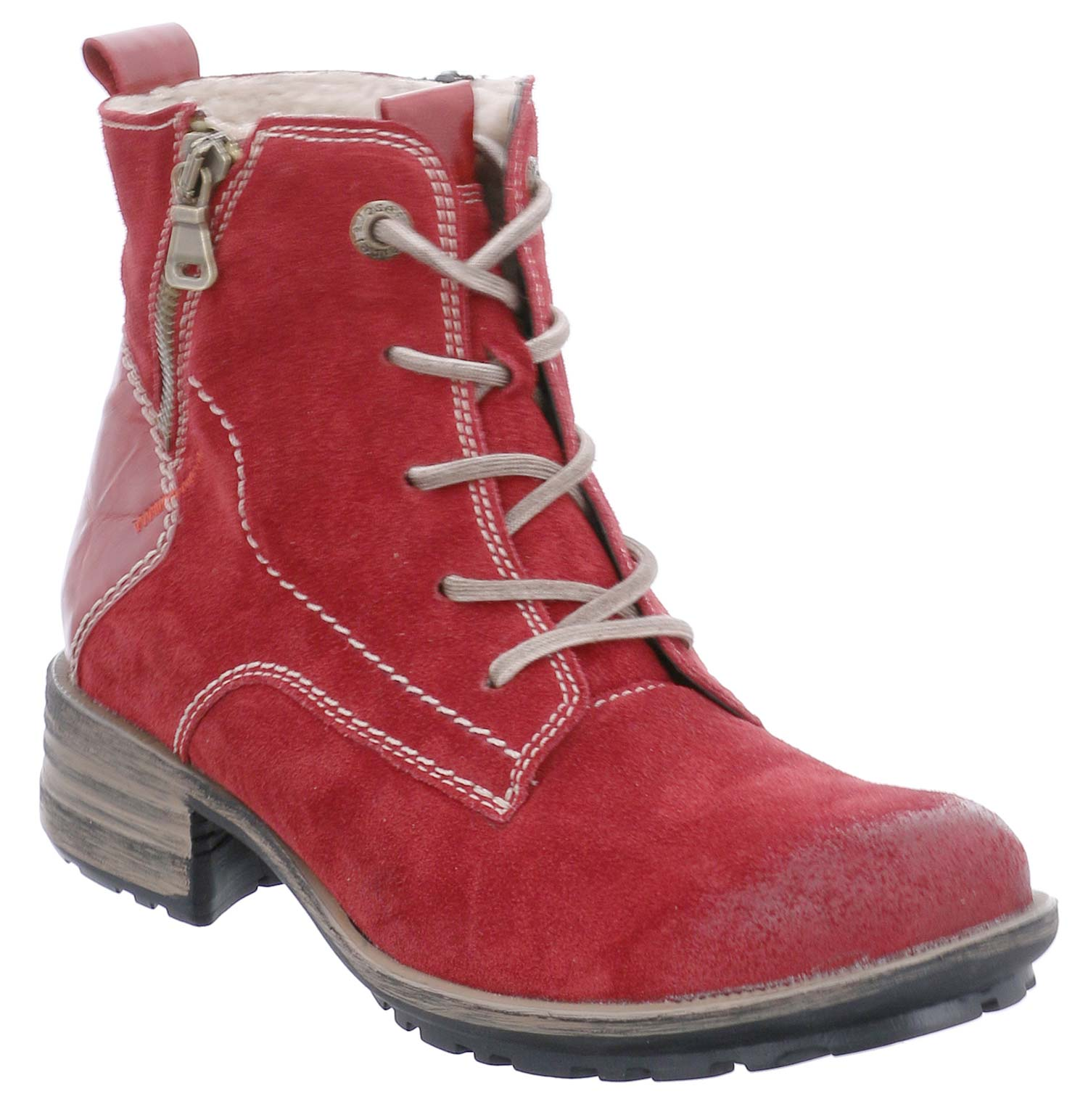 Josef Seibel Sandra Ladies Winter shoes Boots 93897pl949 400 Red New