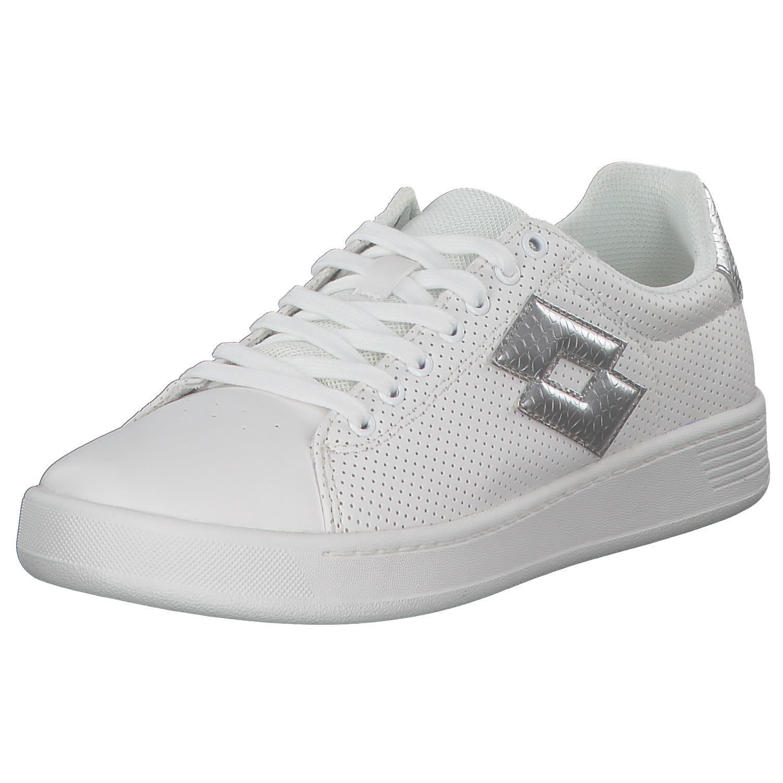 new style 2334c 2495e Dettagli su Lotto Donna Sneakers Scarpe da Corsa Ginnastica T4008 Bianco  Argento Nuovo