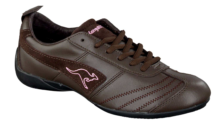 kangaroos damen sneaker schuhe turnschuhe braun pink. Black Bedroom Furniture Sets. Home Design Ideas