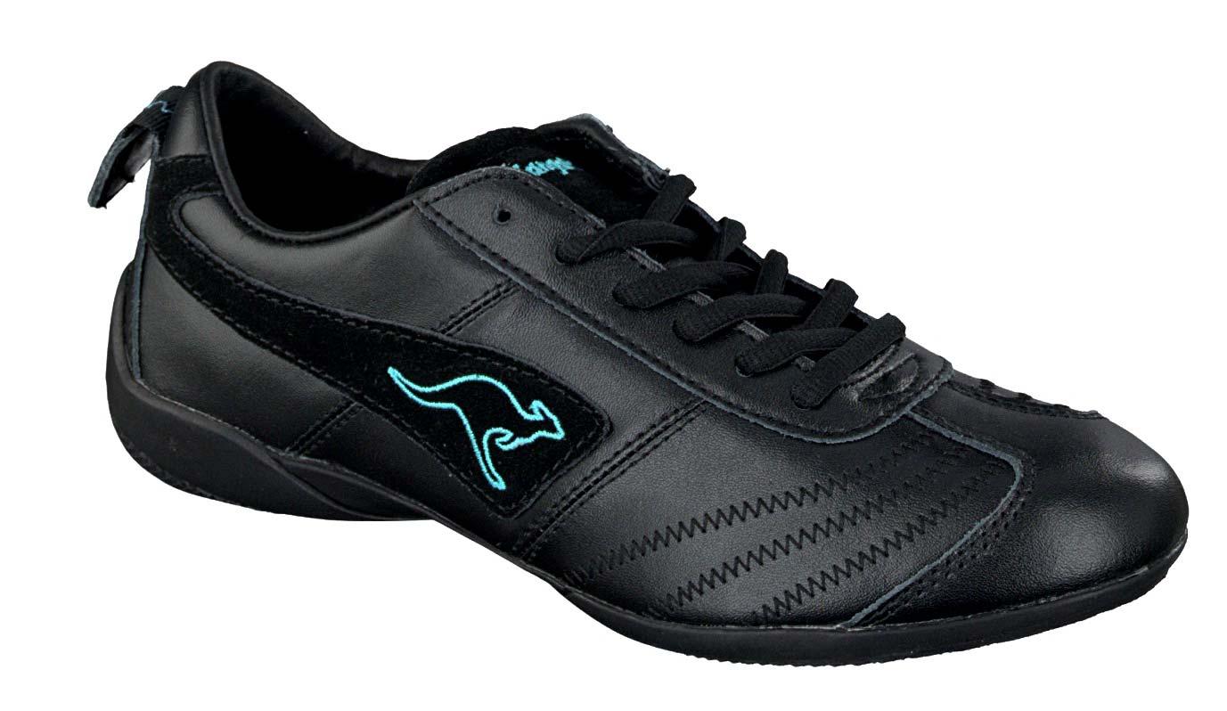 kangaroos damen sneaker schuhe turnschuhe schwarz blau. Black Bedroom Furniture Sets. Home Design Ideas