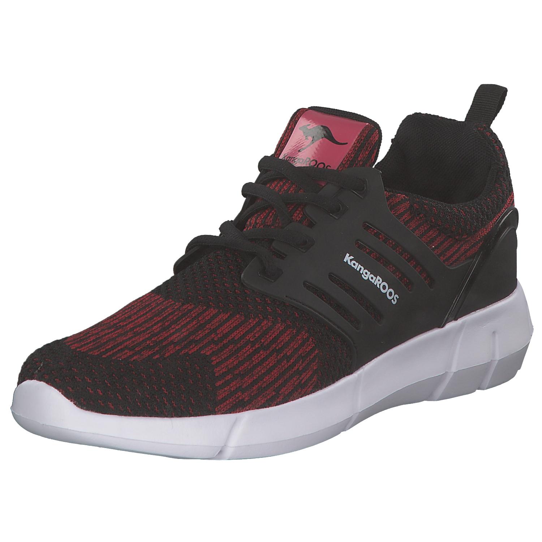 Kangaroos Draga Jet Herren Sneakers Turnschuhe 79030-5029 Schwarz Rot Neu