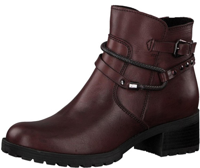 Details zu Marco Tozzi Damen Stiefeletten Stiefel Boots Winter 25475 21507 Rot Neu