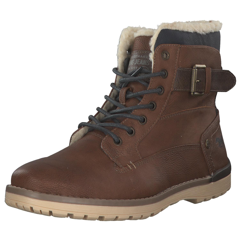 Details zu Mustang Herren Stiefel Stiefeletten Boots Winter 4092 614 301 Braun Kastanie Neu
