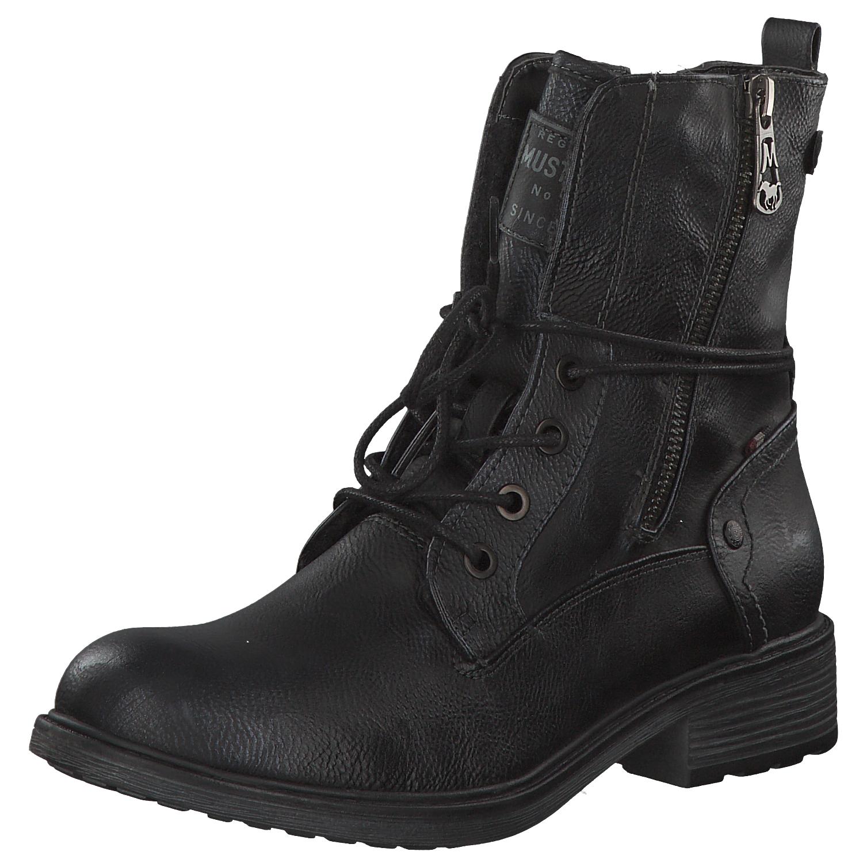 cheap for discount bcdda 6955d Details zu Mustang Damen Stiefel Winterstiefel Boots Winter 1264604-820  Blau Navy Neu