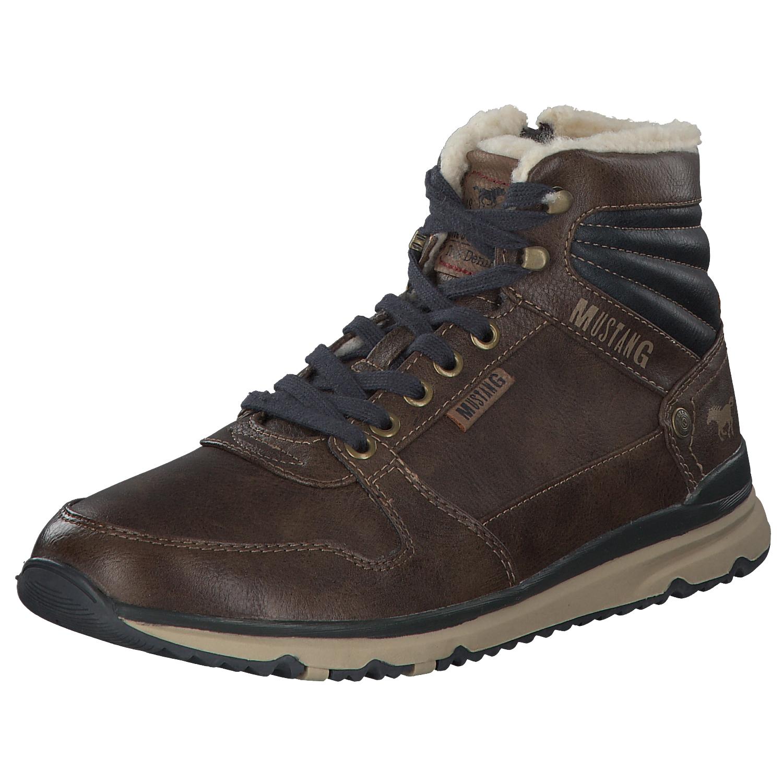 Details zu Mustang Herren Stiefel Stiefeletten Boots Winterstiefel 4095601 360 Braun Neu