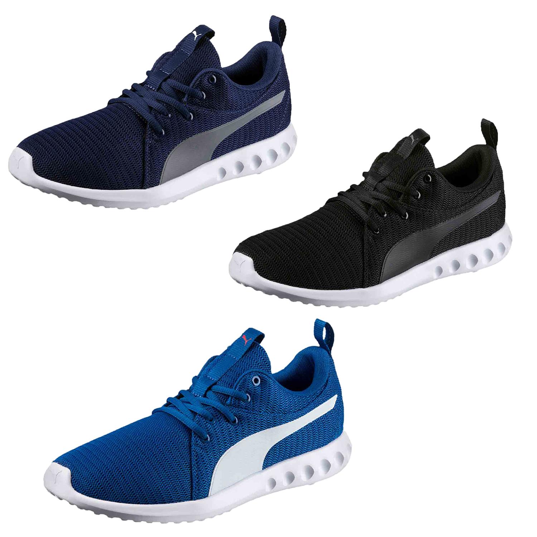 Details zu Puma Carson 2 Herren Sneaker Turnschuhe Sportschuhe Laufschuhe Blau Schwarz Neu