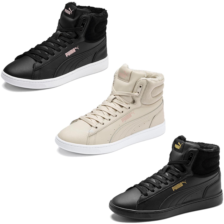 Detalles de Puma Vikky v2 Mujer Zapatillas Zapatos de Inivierno Informales 370279 Muchos