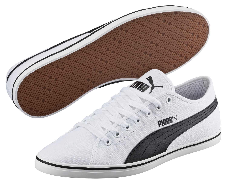 Puma Damen Sneaker Schuhe Turnschuhe Elsu Canvas 359940 001 Weiß Schwarz Neu