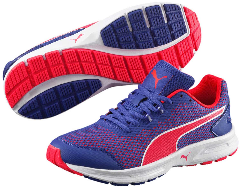 Puma Zapatos Mujer Zapatillas Zapatillas Zapatillas 189057 005 Azul Rojo NUEVO