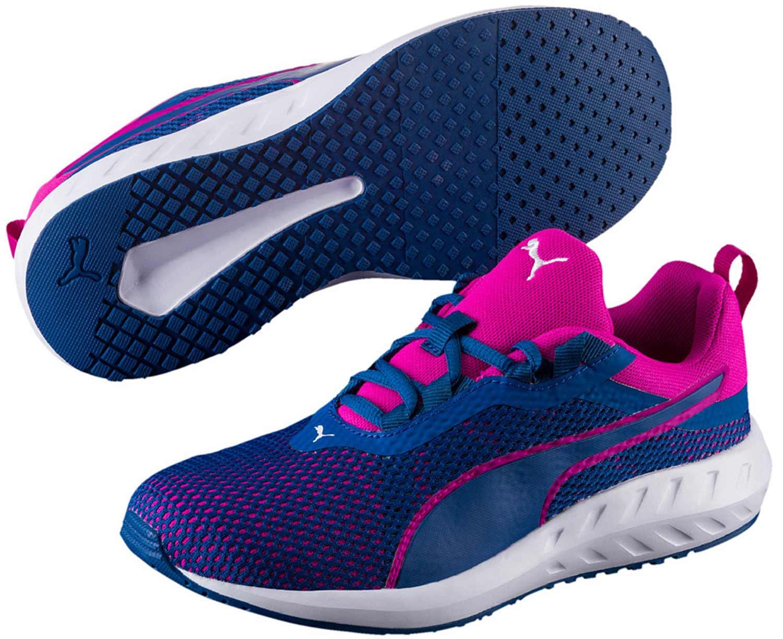 7009f4a62763ff Puma Flare Damen Sneakers Turnschuhe Laufschuhe 189519 001 Blau Pink ...