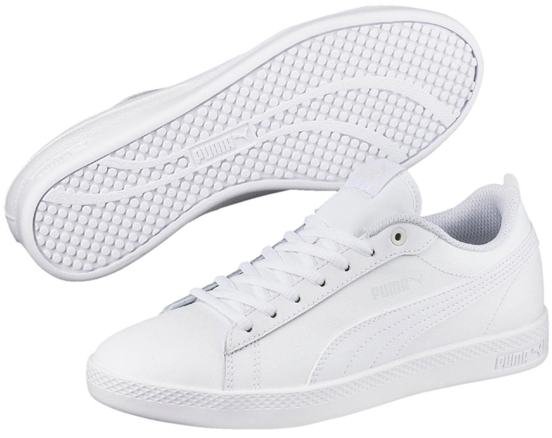 Puma Smash donna sneakers Scarpe da corsa Ginnastica 365208/004 Bianco NUOVO