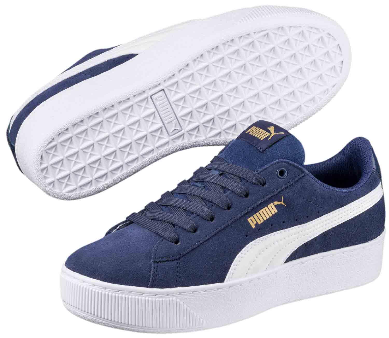 Neu Puma Vikky Platform Blau Sneakers Damen Online Bestellen