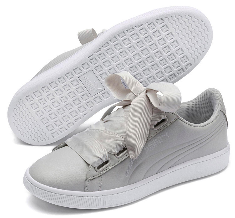 Détails sur Puma Vikky V2 Ruban Core Femmes Baskets Sneakers 369114003 Gris Neuf