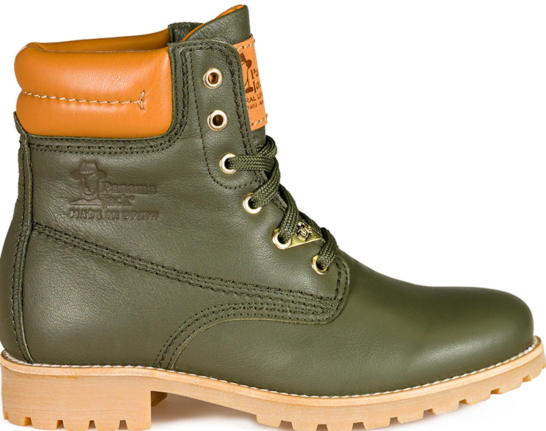 panama jack damen panama 03 travelling b14 stiefel boots gr n khaki leder neu ebay. Black Bedroom Furniture Sets. Home Design Ideas