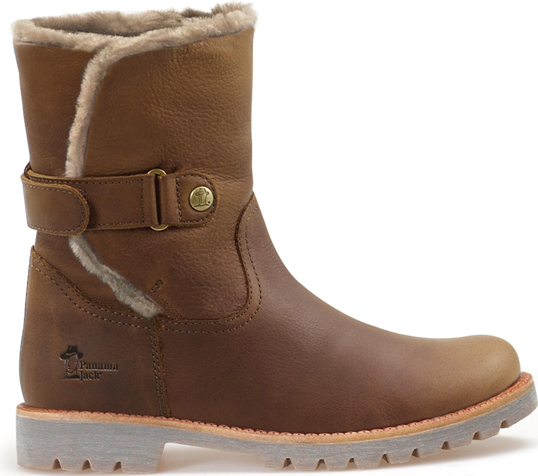 e3b5d021b403e2 Panama Jack Felia Igloo Damen Stiefel Winterstiefel Lederstiefel B4 Braun  Neu