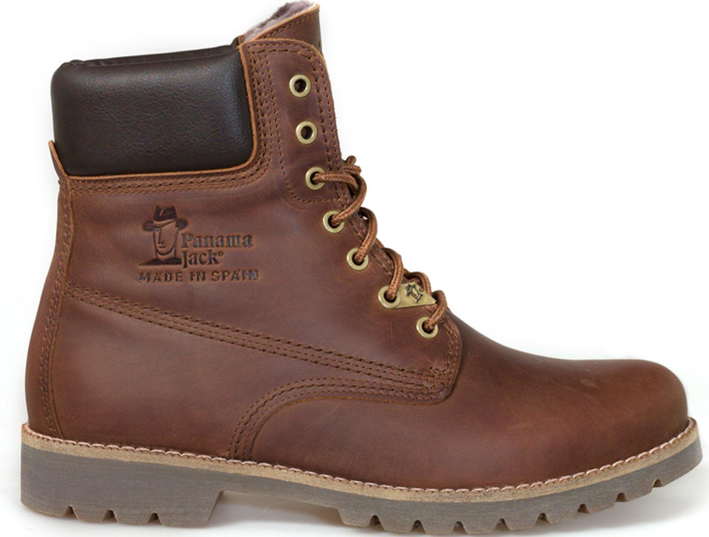 Detalles de Panama jack Zapatos Hombre Panamá 03 Igloo C11 Botas Braun Piel Nuevo