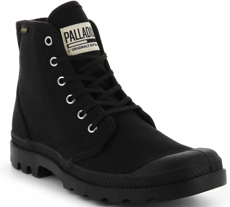 Palladium pampa zapatos botas botas casual 75349-060-m negro nuevo